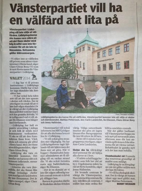 Tidningsklipp NLT